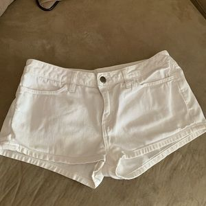 White mid-rise American Apparel shorts